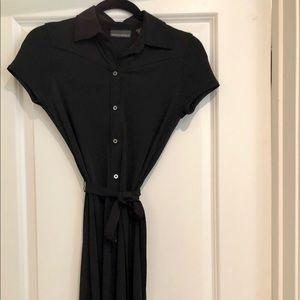 Black Button Shirt Dress